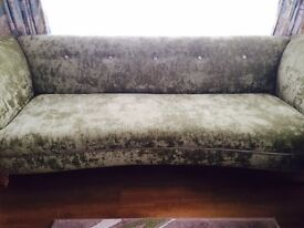 DFS Cream and Green Color Fabric Sofa Set