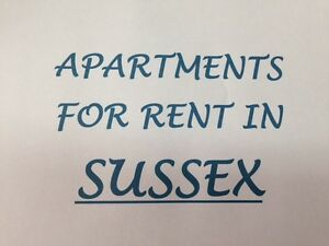 1-2-3 Bedroom Apartments for Rent in Sussex and Surrounding Area