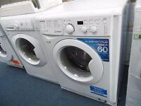 NEW GRADED WHITE 8 KG 1400 SPIN INDESIT WASHING MACHINE REF: 13136