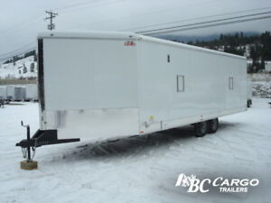 Hey Dumb A** - you stole my snowmobile trailer!