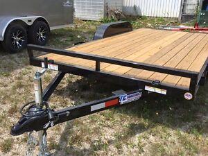 7x16 tandem open car hauler 7000 lb