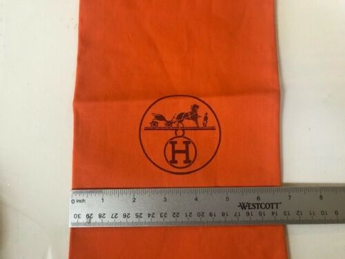 A SINGLE (1) Hermes  Shoe DUST BAG 15 inches by 6.75 inches
