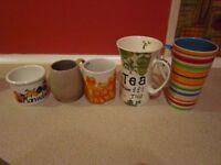 Cups, to-go-tea/coffee mug, bowls