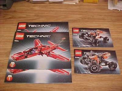 Lego Technic INSTRUCTION Manual Book 9394 JET PLANE + Free 9392 QUAD