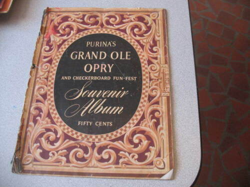 GRAND OLE OPRY Purina Souvenir Album Eddy Arnold Bill Monroe Marty Robbins more