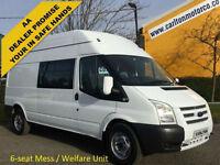 2013/ 13 Ford Transit T350 Lwb Hi/R [ Mess,Welfare Unit ] van 2.2Tdci 125 Rwd