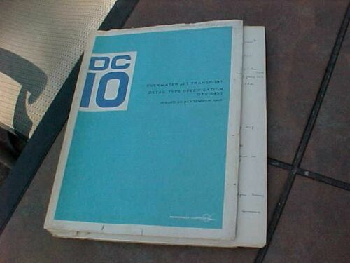 ORIGINAL 1968 McDONNELL DOUGLAS DC-10 AIRCRAFT MANUAL
