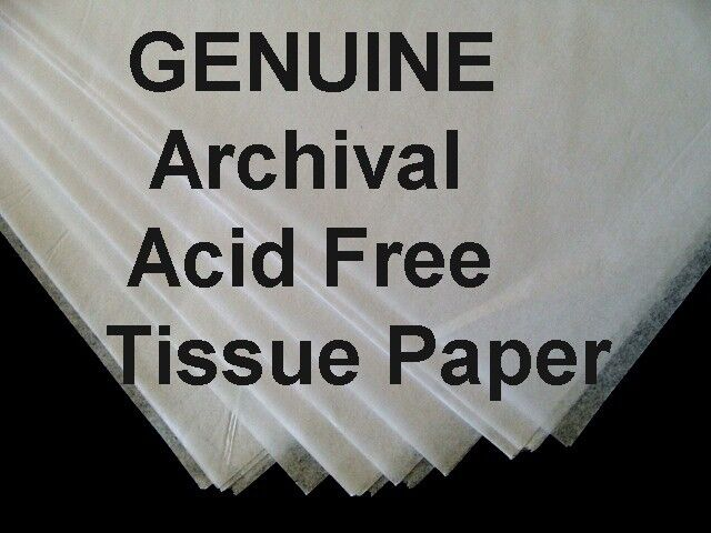 "100 Sheets ROLL 20x30"" ACID FREE White Tissue Paper UNBuffered  + FREE SACHET"