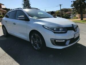 2015 Renault Megane B95 MY14 GT 220 Premium White 6 Speed Manual Hatchback Southport Gold Coast City Preview