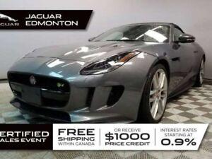 2016 Jaguar F-TYPE R AWD - CPO 6yr/160000kms manufacturer warran