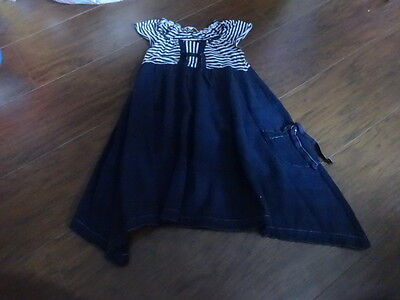 HIGH END BOUTIQUE LUNA LUNA COPENHAGEN 6X NAVY BLUE DRESS](High End Girls Clothes)