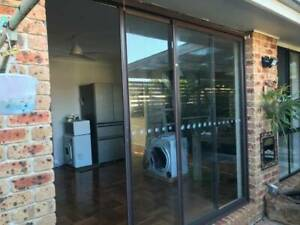 Aluminium Sliding Window with Security Fly screen and pet door