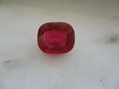 6 CARAT EMERALD CUT SYNTHETIC RUBY - LOOSE STONE