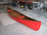 Strip plank canoe