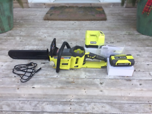 RYOBI 40 Volt battery operated chain saw