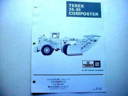 4 PiecesTerex  33C Wheel Loader, 74-51 Composter & More