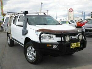 2013 Holden Colorado RG MY13 LX Crew Cab White 5 Speed Manual Cab Chassis Singleton Singleton Area Preview