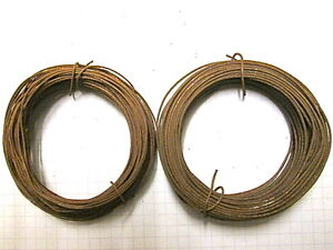 Rusty tin wire 1, 2 or 3 rolls  20gauge or 22 gauge  Primitive. Folk Art Crafts
