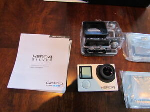 Go Pro Hero 4 Silver and accessories
