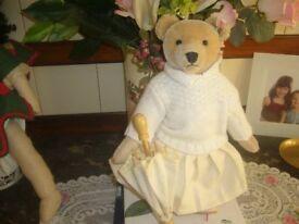 steiff ltd edition bear nora ean 660771 quite rare only 1500 worldwide