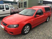 2006 Ford Falcon BF MkII XLS Red 4 Speed Auto Seq Sportshift Utility Jewells Lake Macquarie Area Preview