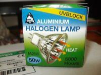 9 X 12V 50W ALUMINIUM M258 HALOGEN LAMP BULBS (BRAND NEW)