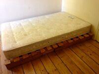 Double mattress with futon base