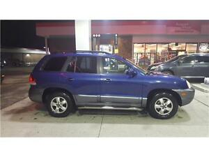 2006 HYUNDAI SANTE FE V6 BLUE WITH LOW KMS AND PERFECT BODY!