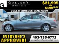 2011 Mercedes Benz C250 AWD $199 bi-weekly APPLY NOW DRIVE NOW
