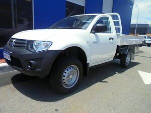 2012 Mitsubishi Triton MN MY13 GL White 5 Speed Manual Cab Chassis Welshpool Canning Area Preview