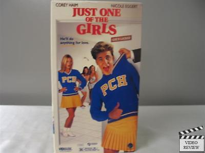 Just One of the Girls VHS Corey Haim, Nicole Eggert, Cameron Bancroft;