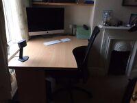 Large corner desk. Good as new.