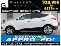 2010 Hyundai Tucson LIMITED $179 bi-weekly APPLY NOW DRIVE NOW