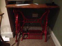 Singer sewing machine computer desk