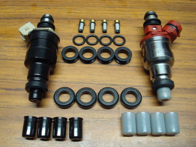 Toyota Corolla MR2 4AGE 4AGELC Fuel Injector O-ring Seal Filter & Pintle Cap Kit