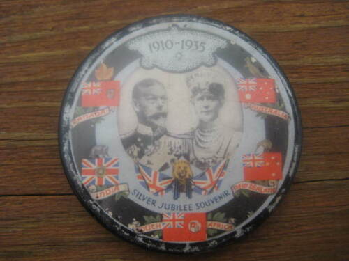 VINTAGE POCKET MIRROR BRITISH ROYALTY KING GEORGE 5TH AND QUEEN MARY