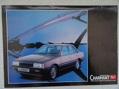 Daihatsu Charmant Saloon brochure 1982 - 1300LC, 1300LE, 1600LE Models