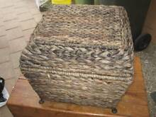 BASKET STORAGE BOX WITH METAL FRAME VERY SOLID BOX Isaacs Woden Valley Preview