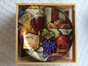 WINE AND CHEESE PLATE SET