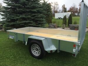 Open Galvanized Sure Trac 6x10 Trailer