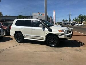 2013 Toyota Landcruiser VDJ200R MY12 Sahara White 6 Speed Sports Automatic Wagon