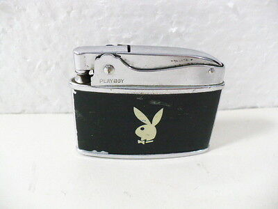 Playboy Lighter w/ bunny head & bow tie picture on black case