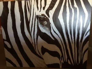Large unique Zebra print  for sale