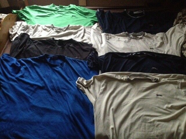 8 x Slazenger T shirts (and one Slazenger Polo shirt) all 2XL XXL