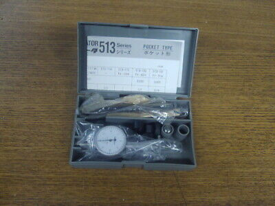 New Mitutoyo Dial Test Indicator No. 513-118 In Case With Accessories
