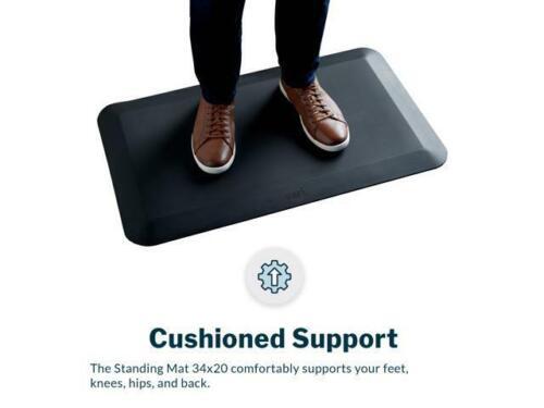 "Varidesk Standing Desk Anti-Fatigue Comfort Mat (Black) 34"" x 20"" The Mat 34"