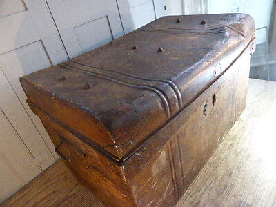 Antique Edwardian tin cabin trunk