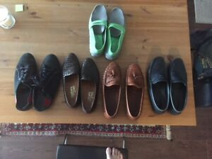 5 pair of slip on  Gucci , Tods , Allen Edmond, slavator fregam