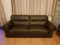 DFS Leather 3 seater sofa x2 Artisan Range