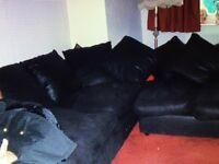 Black fabric Corner sofa, SOLD SOLD SOLD!!!!!